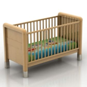 Crib Free by Free 3dmax Model Of A Wooden Crib Free No2520 Zip 123free3dmodels