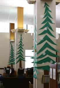 pillars decoration in homes trees on library pillars christmas bulletin boards