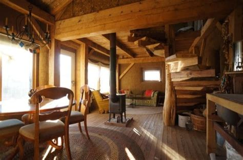 Literal Wheels Frame a beautiful sustainable cabin made from timber mud