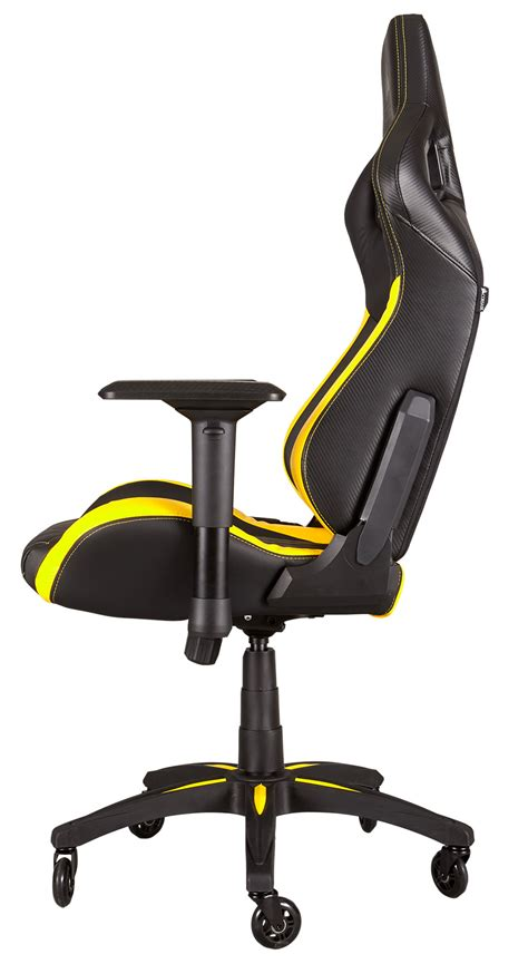 Kursi Gaming Racing Series Black Yellow corsair t1 race gaming chair black yellow south africa