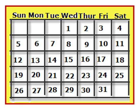 days of the week calandar new calendar template site