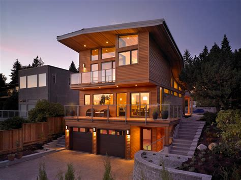 Interior Lighting Design For Homes by Chic Modern House Designs Look Vancouver Modern Exterior
