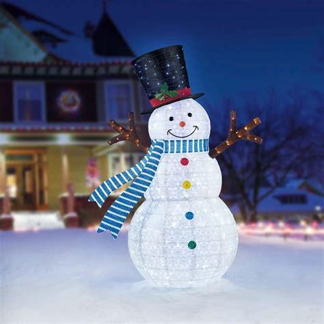 christmas snowman 7ft 2 1 m 329 led cool white lights
