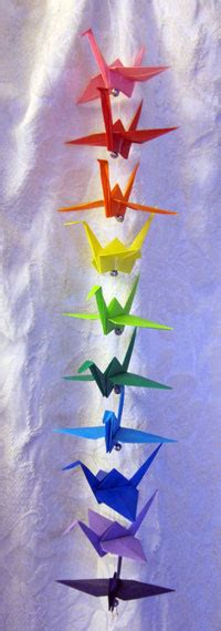 String Origami - 2 foot string of origami cranes