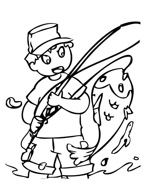 fisherman coloring page free printable coloring pages fishing coloring pages clipart best