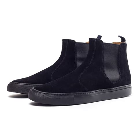 black suede chelsea boots buttero suede chelsea boots in black for lyst
