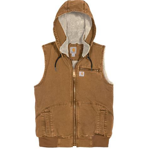 Hooded Vest carhartt women s weathered duck wildwood hooded vest