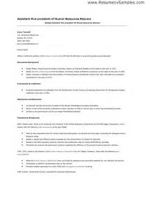 Assistant Hr Officer Sle Resume by Best Photos Of Human Resources Assistant Description Human Resources Manager