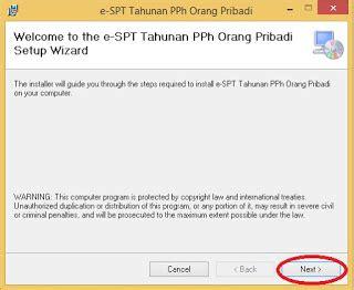 petunjuk pengisian spt tahunan pph orang pribadi 2016 bagi download installer dan petunjuk install e spt tahunan pph