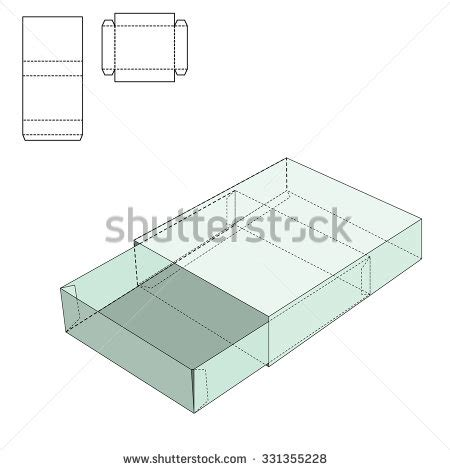 Box Template Stock Images Royalty Free Images Vectors Shutterstock Folding Box Template