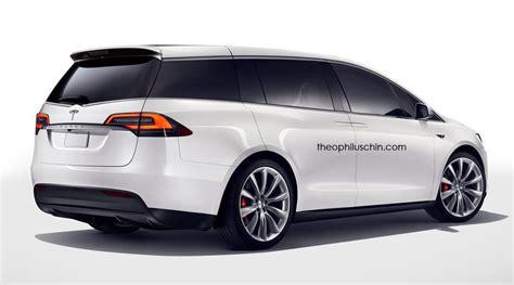 tesla minivan tesla minivan renderings emerge