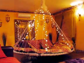 Cool Lights For Bedroom by Floating Bed Fairy Lights Interior Design Ideas
