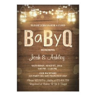 Baby Q Shower by Baby Q Shower Invitations Announcements Zazzle