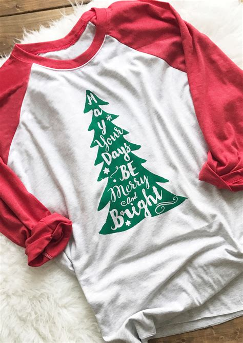 christmas tree letter printed  shirt fairyseason