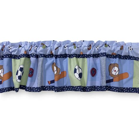 Sports Window Valance bedtime originals by lambs sports window valance walmart