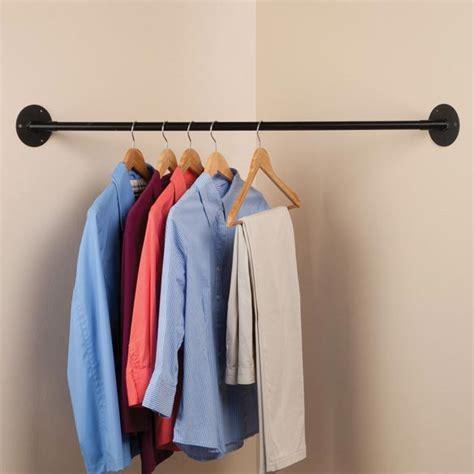 Hanging Closet Bar by Corner Hanging Bar Closet Bar Hanging Rod Kimball