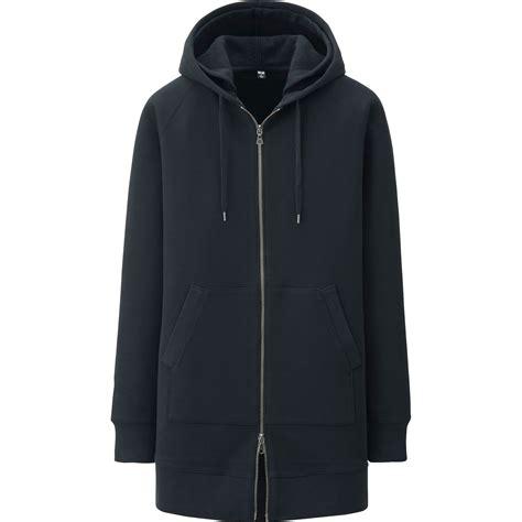 Hoodie Longkitty Black uniqlo sweats zip hoodie in black for lyst