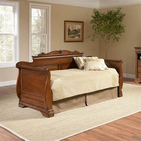 wood day bed largo furniture bordeaux wood daybed in brown cherry