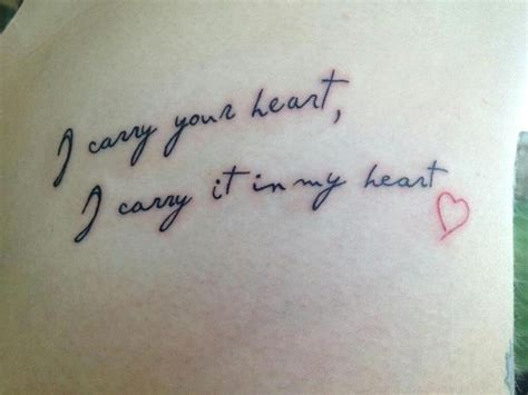 i carry your heart tattoo designs i carry your i carry it in my beautiful