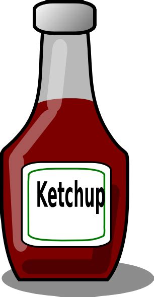 ketchup bottle clip at clker vector clip