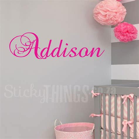 Personalized Wall Sticker personalized wall decals sticky things wall stickers