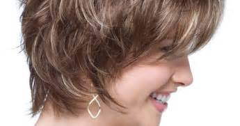 hair cut feathered ends short face flattering bob with feathered layers and wispy