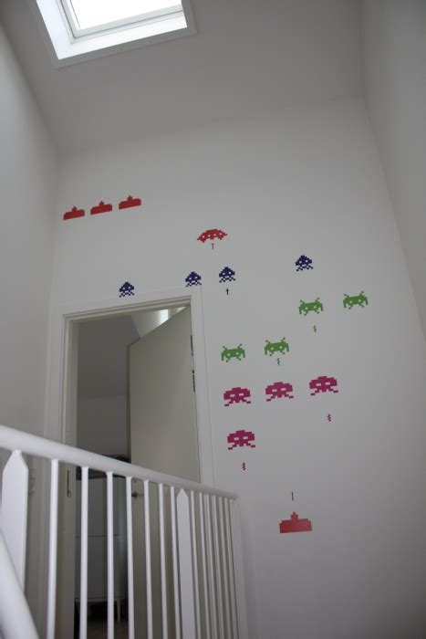 space invaders wall stickers space invader wall sticker getdigital