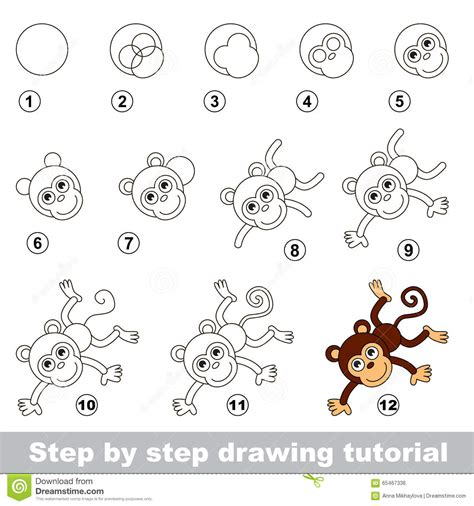 how to draw a step by step drawings of monkeys step by step coloring europe travel guides