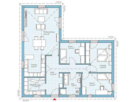 moderne bungalows grundrisse moderne h 228 user grundriss l form loopele