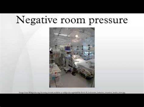 what is a negative pressure room negative room pressure