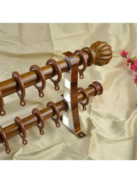 thick curtain rods qyt2221 1 1 8 quot diameter super thick wood grain custom