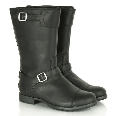 ladies biker boots womens leather ugg biker boots