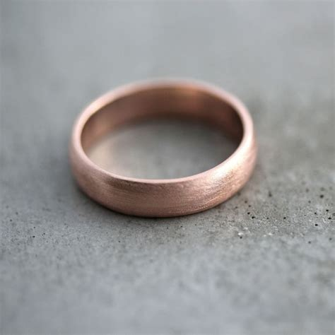 gold s wedding band brushed matte s 5mm