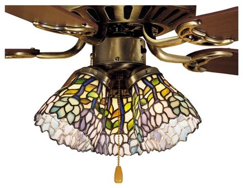 favorable kitchen pendant lights turning leaf tiffany meyda tiffany wisteria ceiling fan light shade x 67472