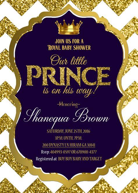 printable royal invitation royal baby shower invitation royal prince gold royal