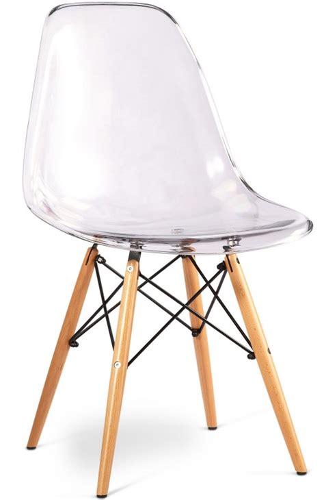 Chaise Dsw Transparente chaise transparente et pieds bois clair inspir 233 e dsw