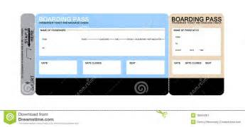blank airline boarding pass ticket stock image image