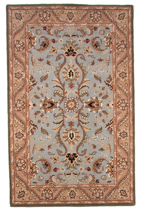 Traditional Wool Area Rugs Beautiful Traditional Tufted Wool 5x8 Area Rug Blue
