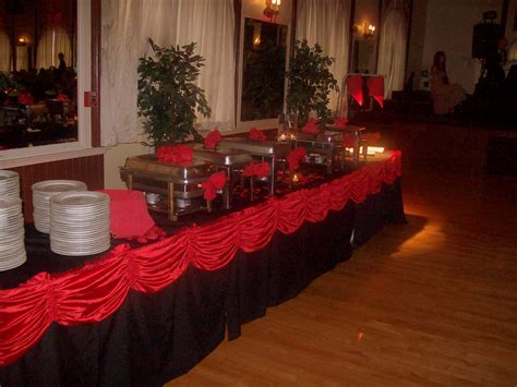 impressive black and red wedding decorations 2 red white