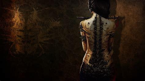 tattoo girl wallpaper android art sensuality sensual girl woman digital tattoo fantasy