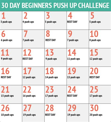 push ups challenge attacking flabby arms 30 day push up challenge dot to trot