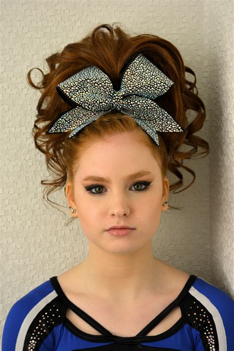 cheerleading hairstyles cheer hair and makeup teased hair and smokey eye