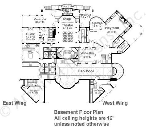 c humphreys housing floor plans balmoral castle plans luxury home plans house