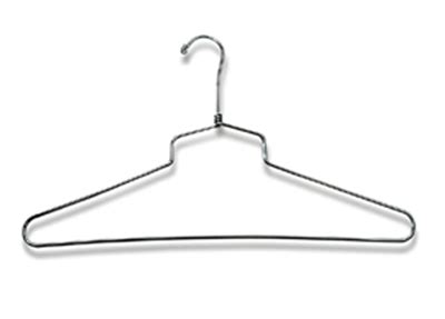 Hanger Setelan 16 Inchi shirt dress salesman hanger 16 inch clothing store display chrome lot of 100 new