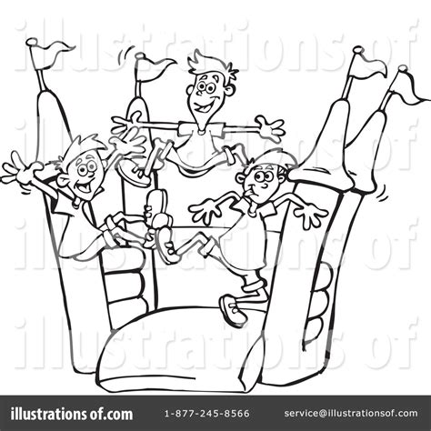 bouncy castle coloring page bouncy house clipart 1236430 illustration by dennis