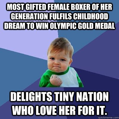 Medal Meme - most gifted female boxer of her generation fulfils