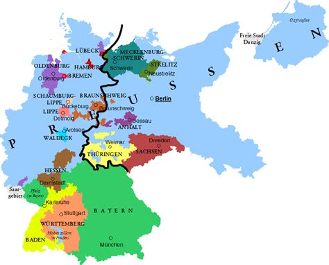 map east germany west germany did the division between east and west germany coincide