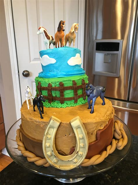 spirit riding  cake representing  canyons grasslands  open sky