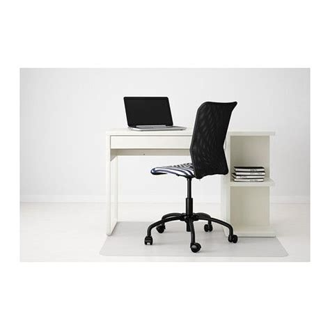 micke desk with integrated storage white