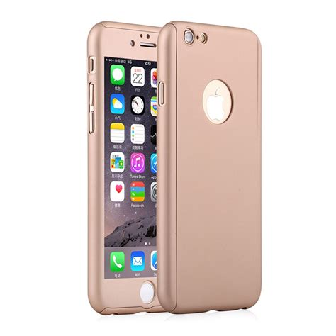 360 176 cover with tempered glass screen protector for iphone 6 6s plus ebay